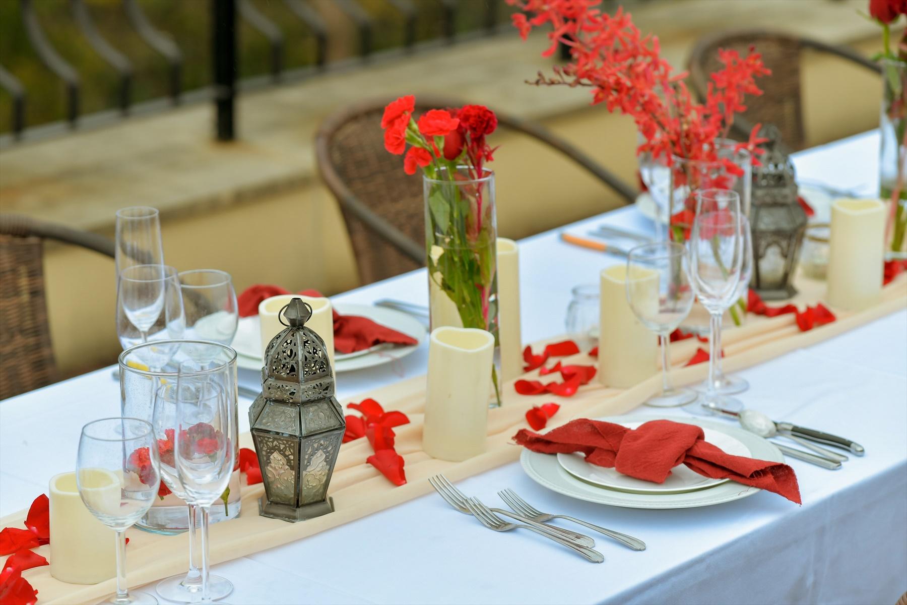 東静岡ウェディングパーティー会場装飾 テーブル生花装飾 熱海スパ&リゾート