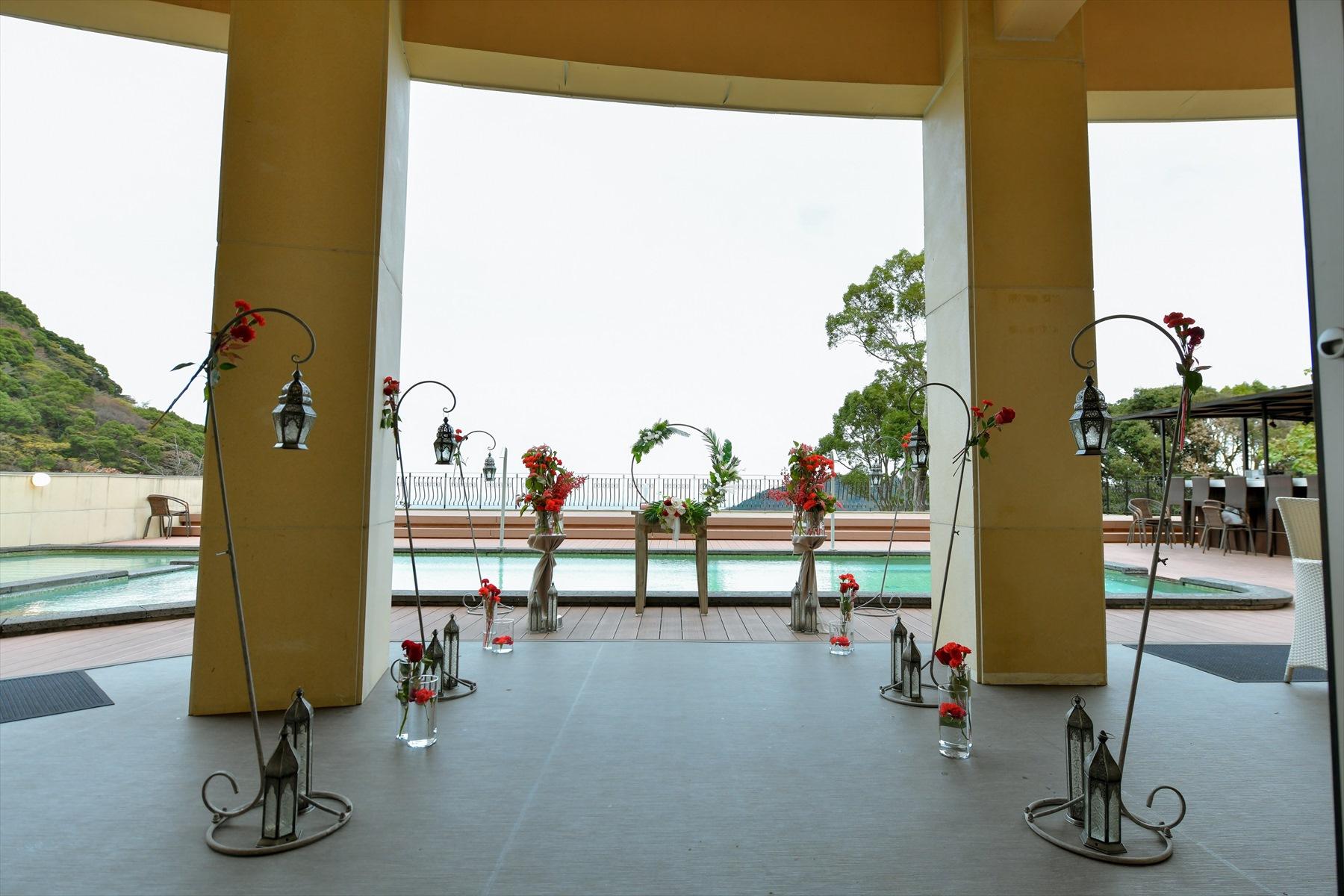 静岡挙式会場装飾 静岡ウェディング 雨天時