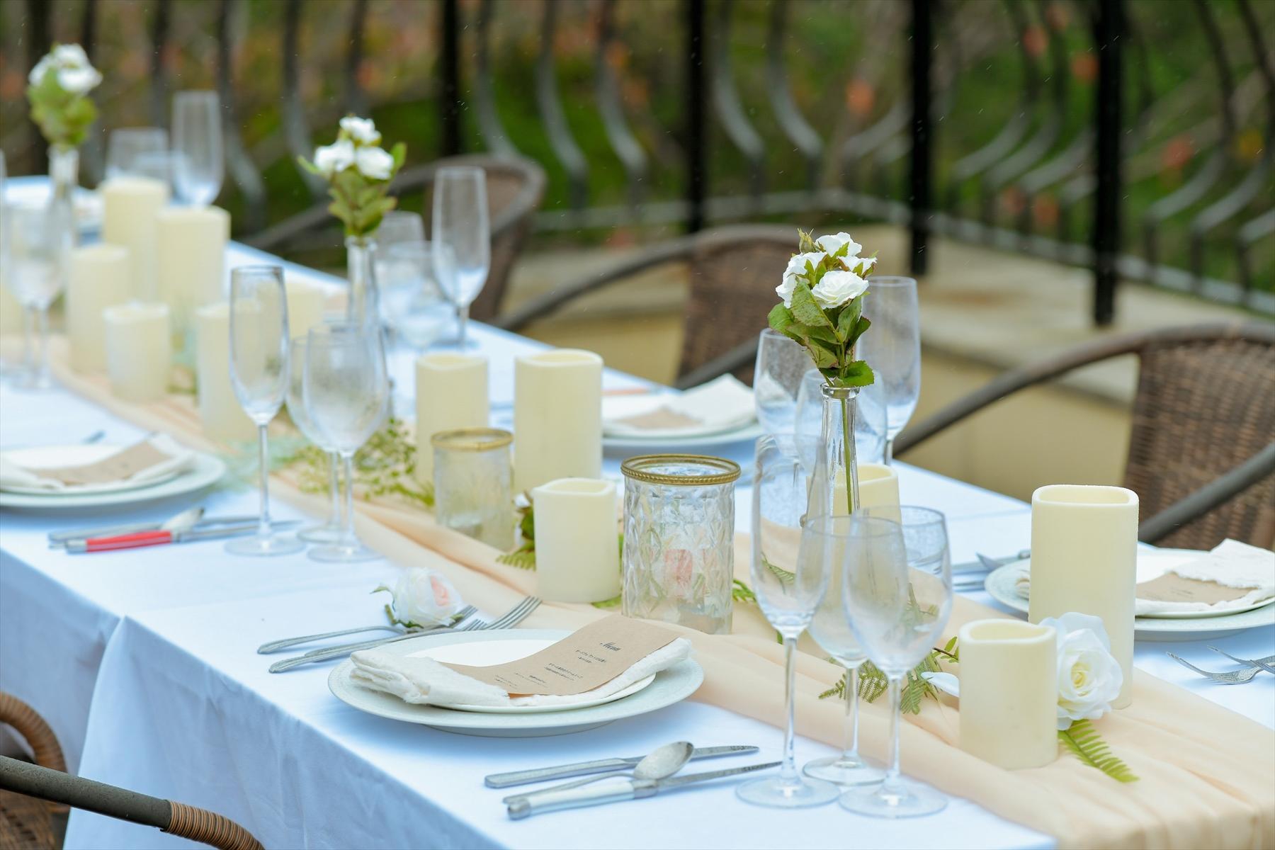 静岡県結婚式 静岡ウェディングパーティー装飾 テーブルセッティング