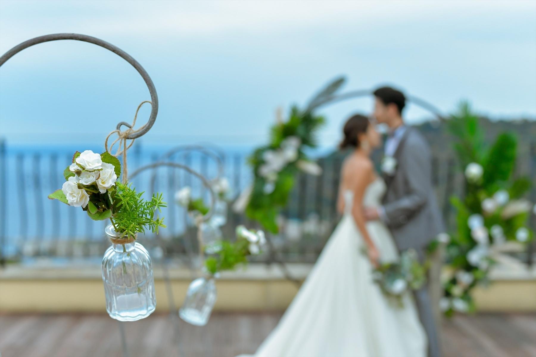 静岡熱海挙式 結婚式会場装飾 スモールラグジュアリー結婚式