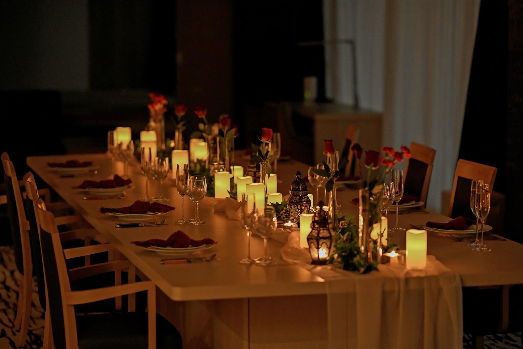 静岡ウェディングパーティー テーブルセッティング例 少人数結婚式
