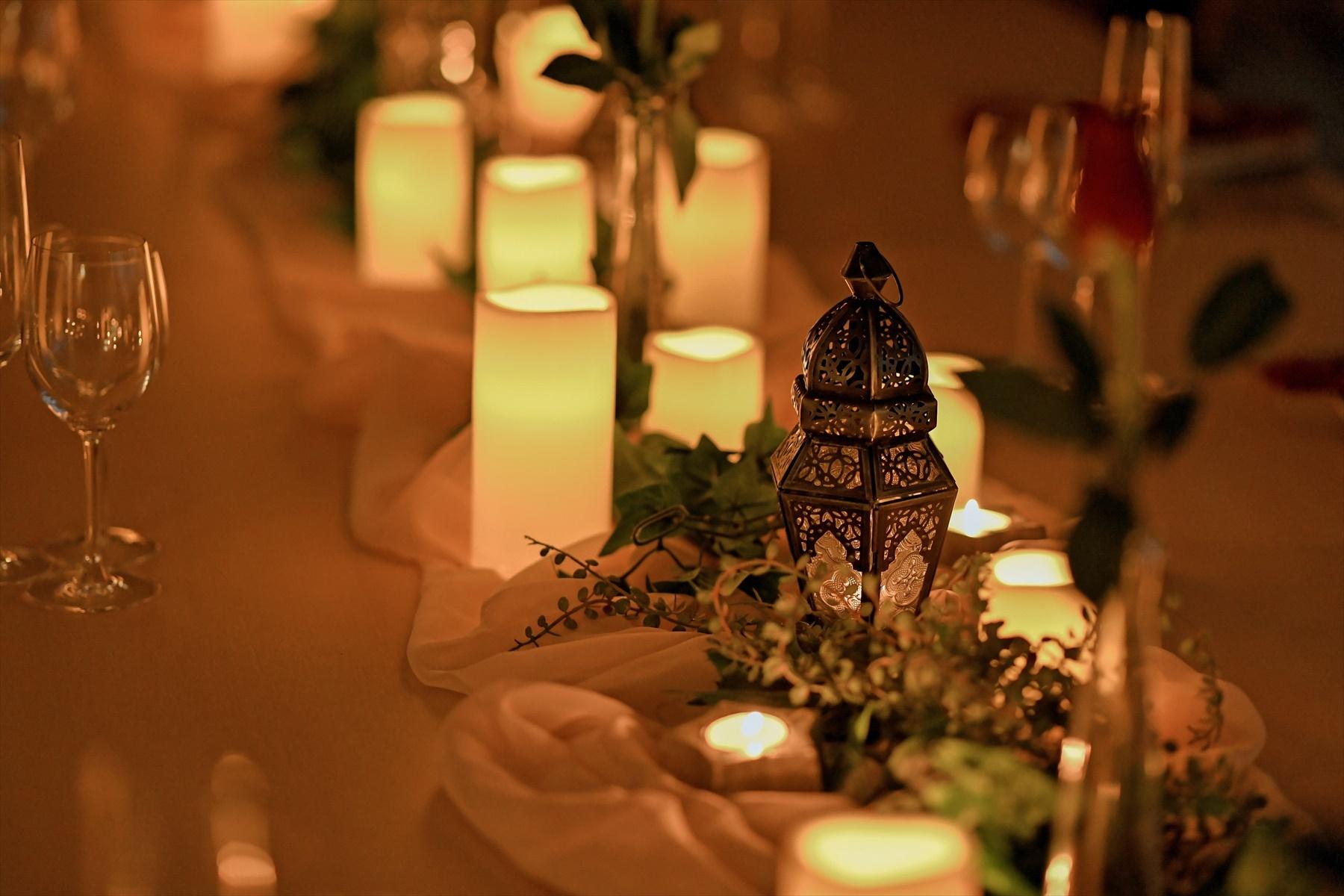 静岡ウェディングパーティー装飾 静岡パーティー一軒家貸切 キャンドル装飾