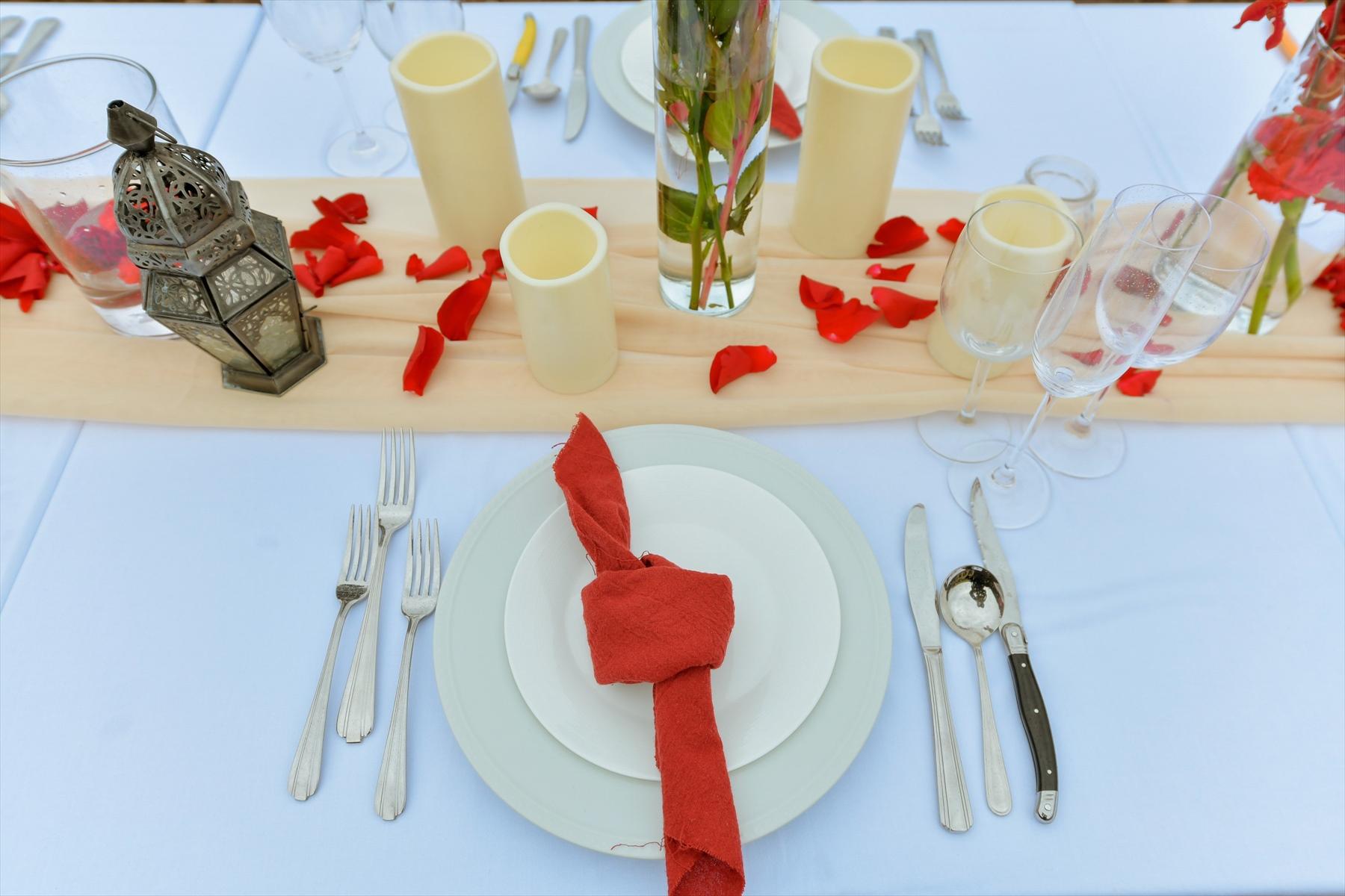 静岡県ウェディングパーティー テーブル装飾 会場装飾アイデア