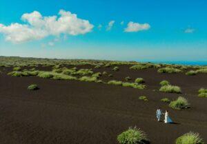 伊豆大島フォトウェディング 伊豆大島前撮り 裏砂漠撮影